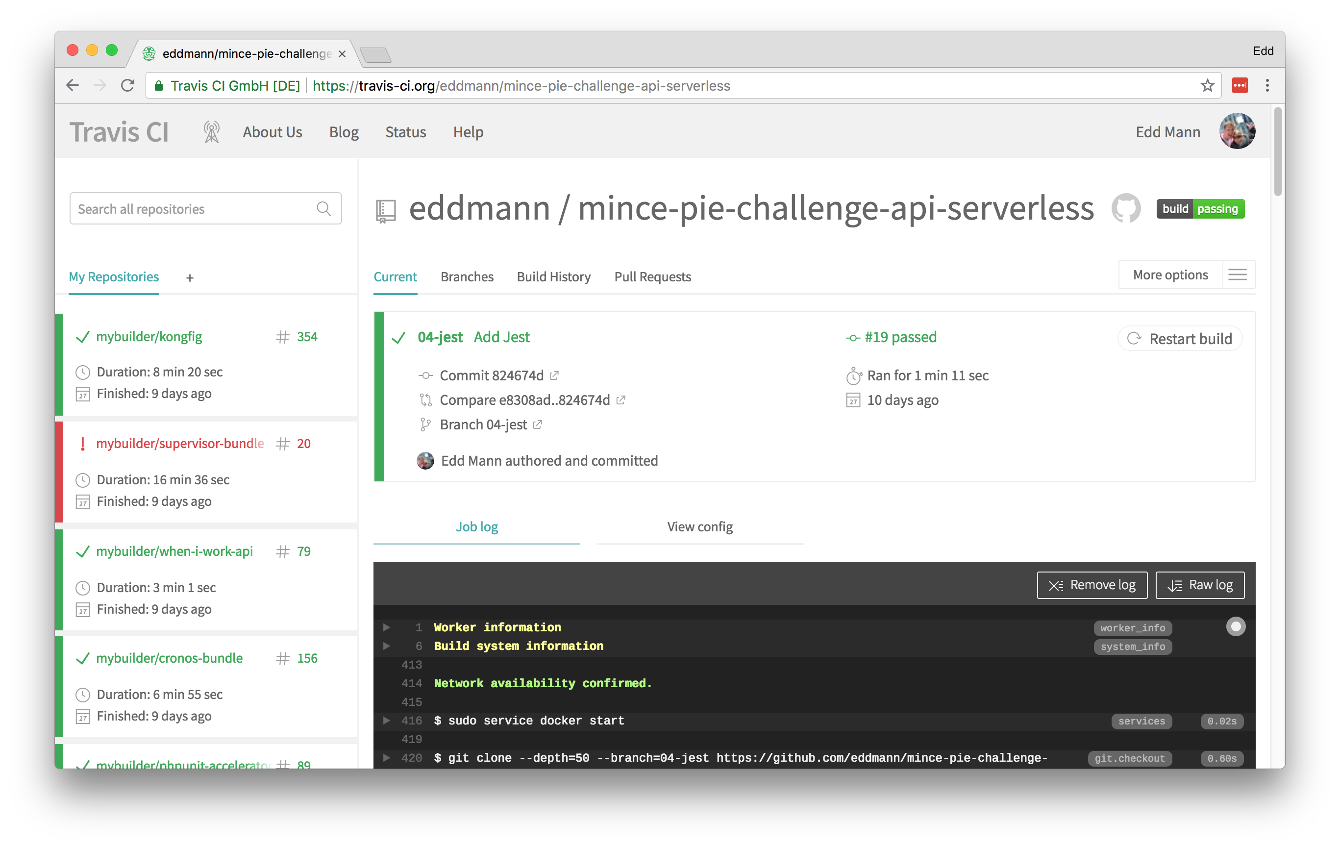 Mince Pie Challenge: Adding Test Coverage using Jest and
