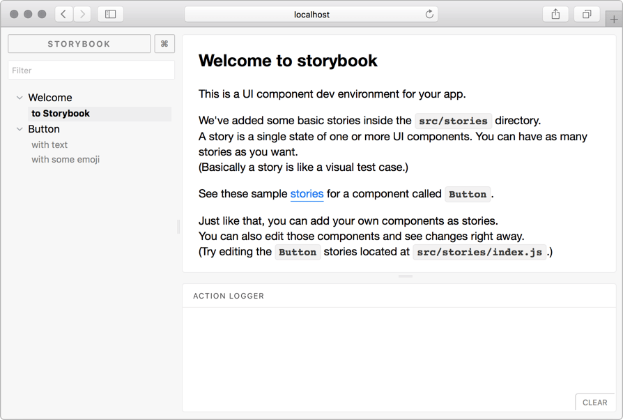 The Storybook UI